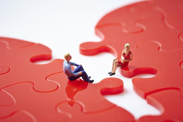 Divorcing Couple Broken Heart Puzzle