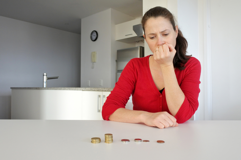 woman financial strain